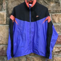 vintage 90's nike windbreaker jacket purple black infrared size medium