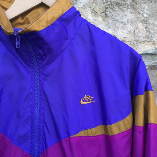 vintage 90's nike track suit set purple pink gold size small medium