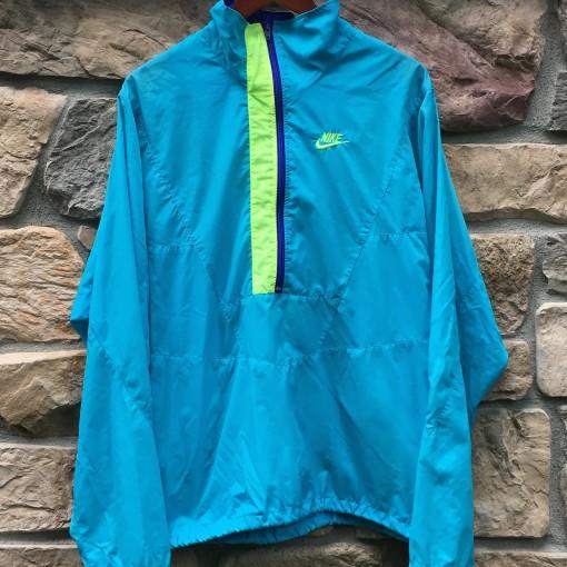 vintage 90's nike aqua windbreaker jacket size XL