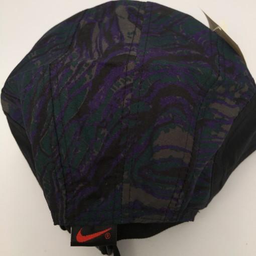 vintage 90's Nike ACQ 5 panel supreme style hat deadstock black purple