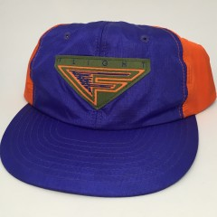 90's Nike flight snapback hat nylon purple orange barkley suns