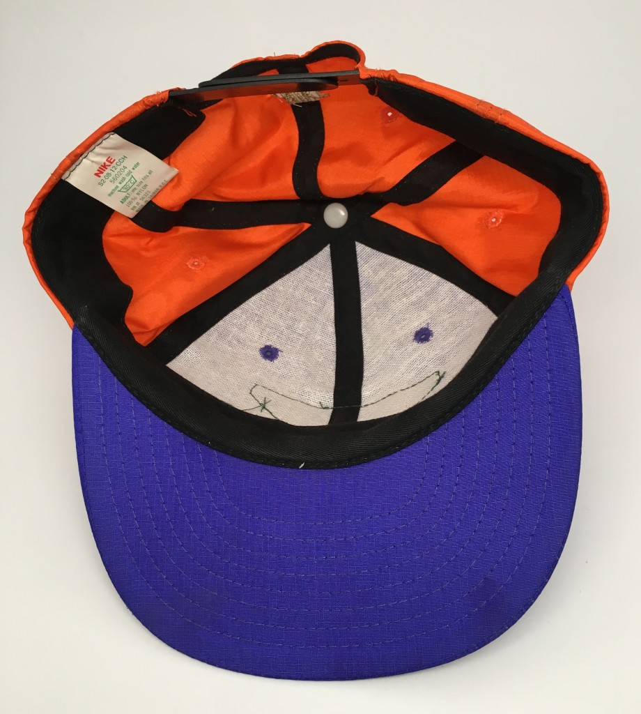 c3c9779c6b7 90 s Nike flight snapback hat nylon purple orange barkley suns