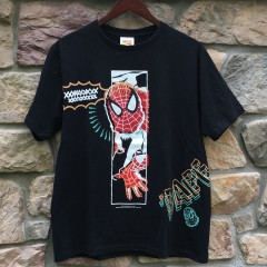 a bathing ape Bape Spiderman marvel comics t shirt 2012 size large