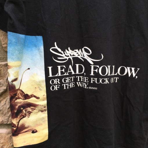 2012 Supreme New York lead or follow t shirt black size XL