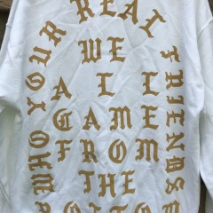 Kanye West TLOP The life of pablo real friends white crew neck sweatshirt Philadelphia size Large