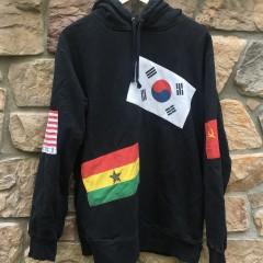 2014 Supreme New York Flags hoody hooded sweatshirt size XL black