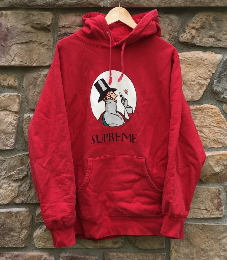 83ba81612675 2011 Supreme New York Uptown Hooded sweatshirt hoody red size XL
