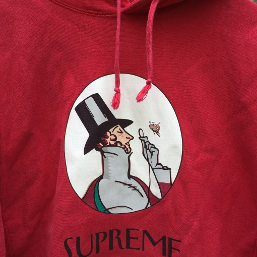 2011 Supreme New York Uptown Hooded sweatshirt hoody red size XL