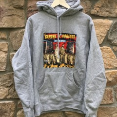 2016 Supreme New York Capone N noreaga war report hooded sweatshirt hoody grey size large