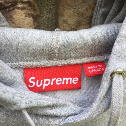 2010 Supreme New York Kaws box logo hooded sweatshirt hoody grey size Large