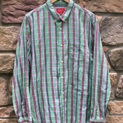 2012 Supreme New York Green oxford button up shirt size XL