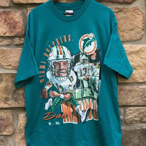 90s Miami Dolphins Dan Marino Caricature NFL T shirt size XL