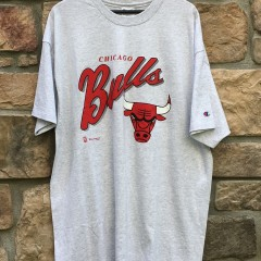 90's Chicago Bulls Champion NBA t shirt size XXL heather grey