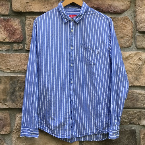 2012 Supreme New York Oxford Button up shirt blue white size XL