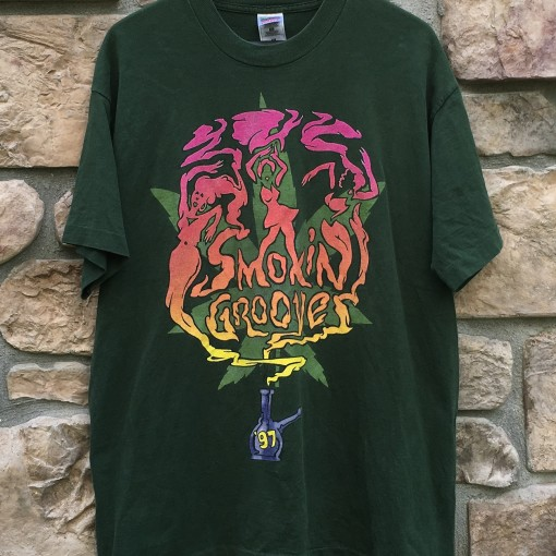 1997 Smokin Grooves Concert rap tee shirt size XL Erykah Badu The Roots Outkast Cypress Hill George Clinton The pharcyde