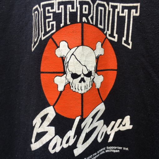 1990 Detroit Pistons Once is Good... Twice is bad! NBA Champions bad boys t shirt size XL