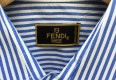 vintage 90's Fendi Oxford button up striped shirt size 15 blue white