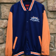 Vintage 2005 Super Bowl XXXIX Varsity Jacket NFL Size Medium New England Patriots Philadelphia Eagles