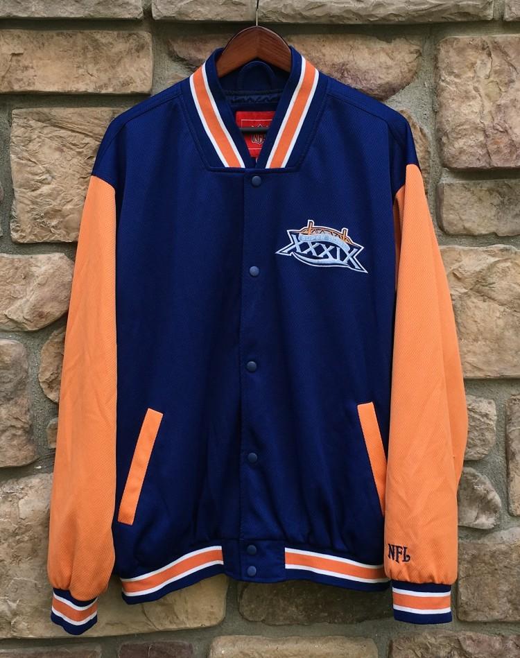 on sale 9c65c 75e8a 2005 Super Bowl XXXIX Patriots Eagles NFL Varsity Jacket Size Medium