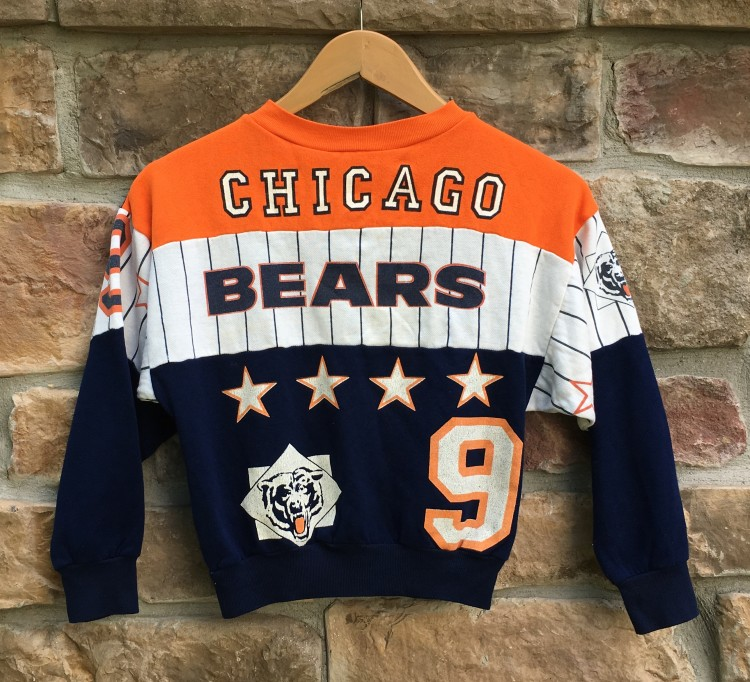 80's Chicago Bears Bull Frog NFL Crewneck Sweatshirt Youth Small