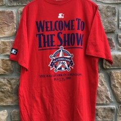 1995 Texas Rangers MLB All star game starter t shirt size XL deadstock red