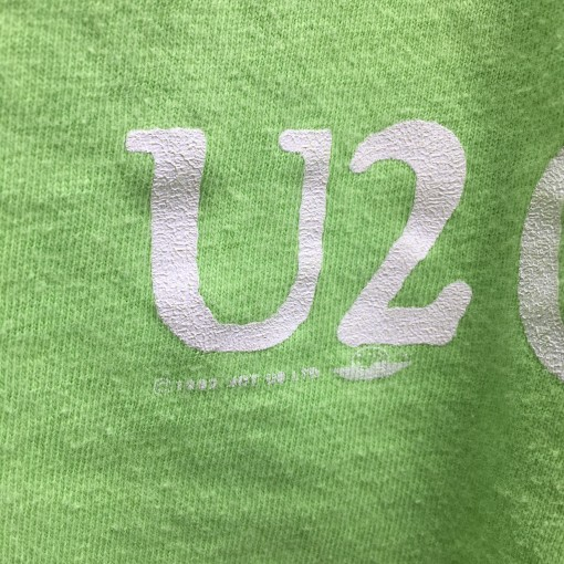 1992 U2 One Concert Tour T shirt lime green size XL Hanes