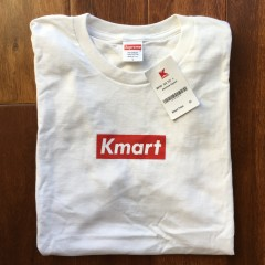 Rare Vntg Supreme New York Kmart Box Logo T Shirt white
