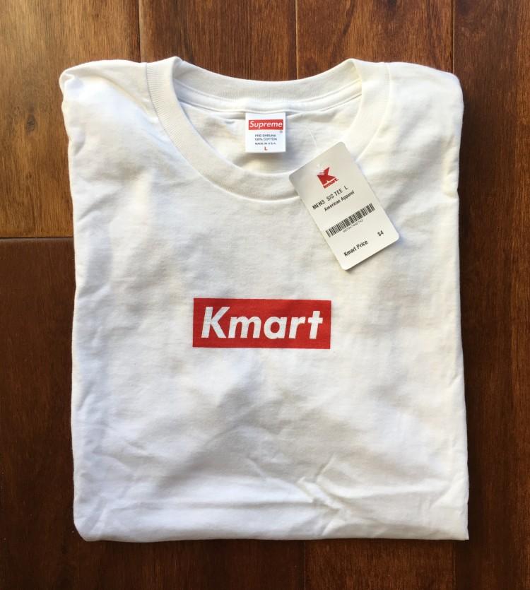 367d55458cb Rare Vntg Supreme New York Kmart Box Logo T Shirt white