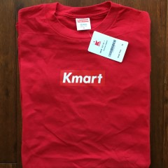 Rare Vntg Supreme New York Kmart Box Logo T shirt Red
