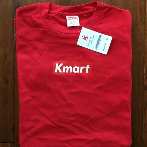 Rare Vntg Supreme New York Kmart Box Logo T shirt Red