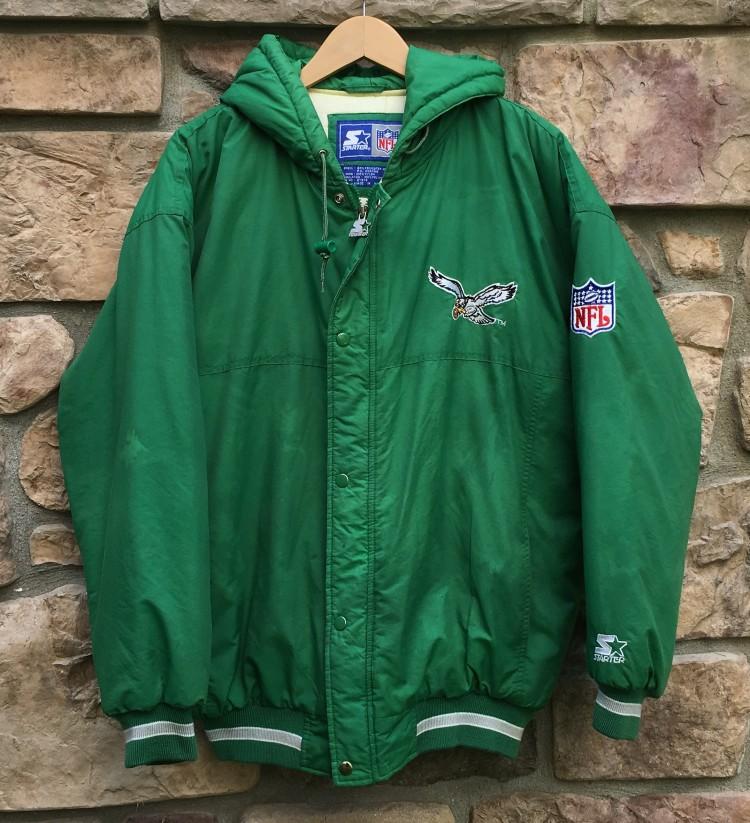 finest selection b7ca2 a3747 90's Philadelphia Eagles Starter Down NFL Jacket Size Large