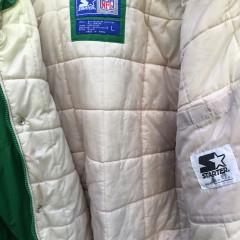 90's Philadelphia Eagles Starter NFL down winter jacket kelly green size large