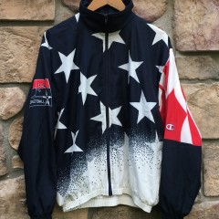1996 Team USA olympic Dream team jacket size large atlanta olympics