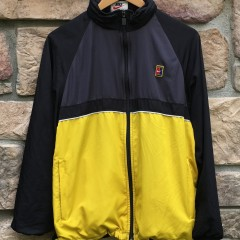 90s Nike Challenge Court Windbreaker jacket size medium yellow black mesh back agassi