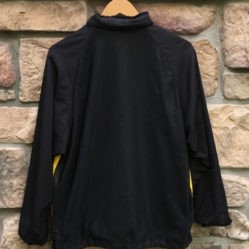 90s Nike Challenge Court Windbreaker jacket size medium yellow black mesh back agassi
