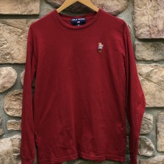 90s Polo Sport Bear long sleeve t shirt red size medium