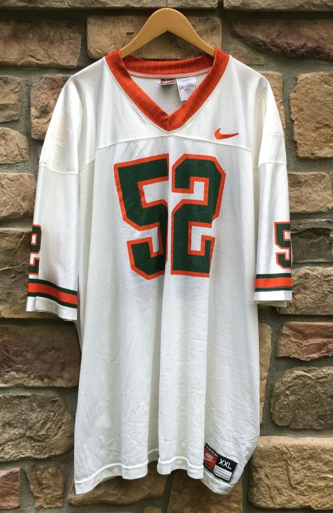 best sneakers b0160 40285 1995 Ray Lewis Miami Hurricanes Nike NCAA Jersey Size XXL