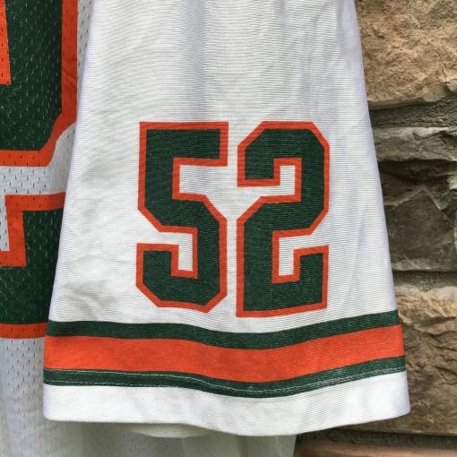 1995 Ray Lewis Miami Hurricanes Nike NCAA football jersey size XXL