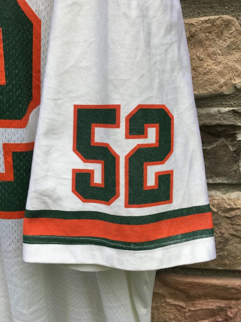 14ecc7183 1995 Ray Lewis Miami Hurricanes Nike NCAA football jersey size XXL