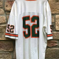 1995 Ray Lewis Miami Hurricanes Nike NCAA football jersey size XXL