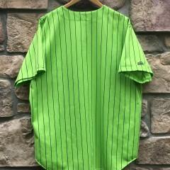 90s Atlanta Braves Lime Green pinstripe Majestic MLB Jersey size XXL