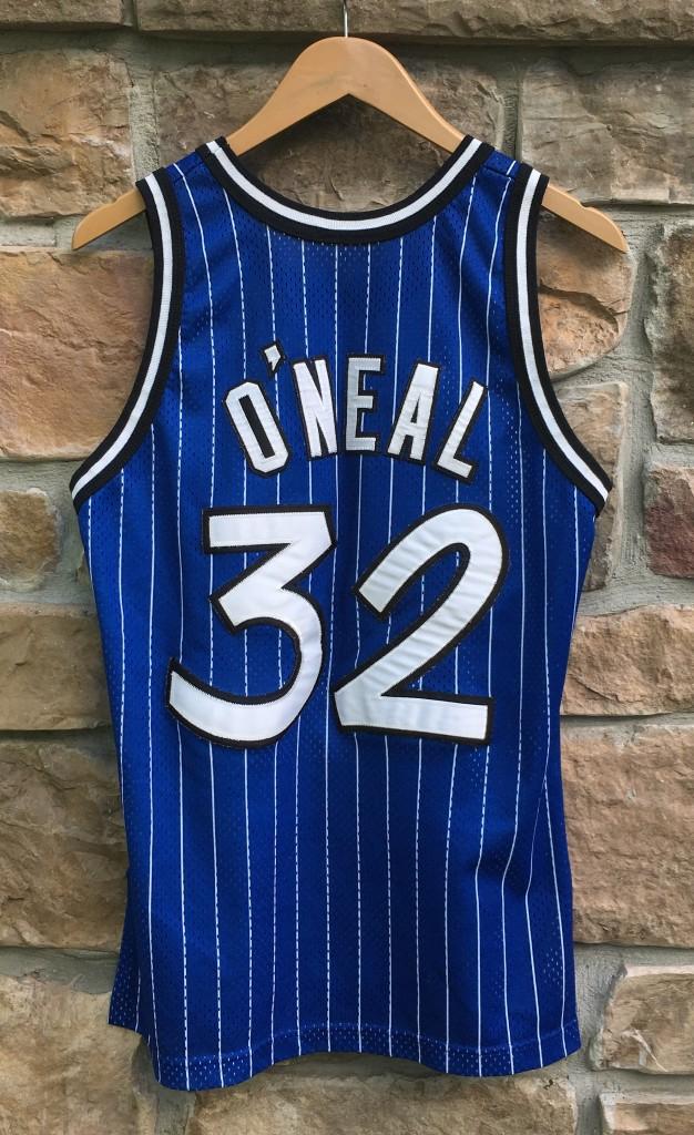 Vintage 90 s Orlando Magic Shaq Champion blue pinstripe authentic jersey  size 40 medium 3ac83252c