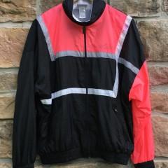 vintage late 80's Adidas black infrared windbreaker jacket size medium