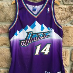1998 Jeff Hornacek Utah Jazz Authentic Champion NBA jersey size 48 purple