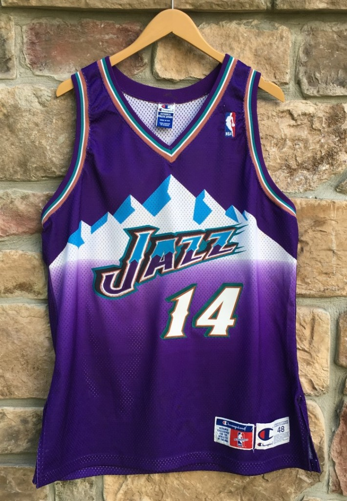 reputable site c9d77 9995c 1998 Jeff Hornacek Utah Jazz Authentic Champion NBA Jersey Size 48
