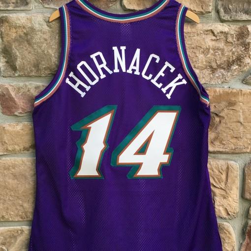 1998 Jeff Hornacek Utah Jazz Authentic Champion NBA jersey size 48 purple