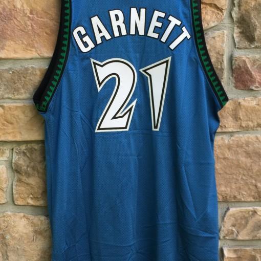 1997-98 Kevin Garnett Minnesota Timberwolves authentic pro cut team issued jersey size 48+4 Starter blue