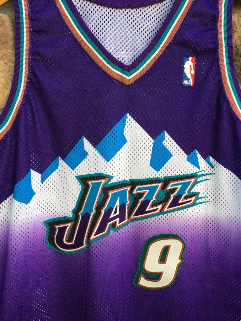 6d9c76a5f 2000 2001 Pro Cut Team issued John Starks Utah Jazz Champion Authentic NBA  Jersey size 46