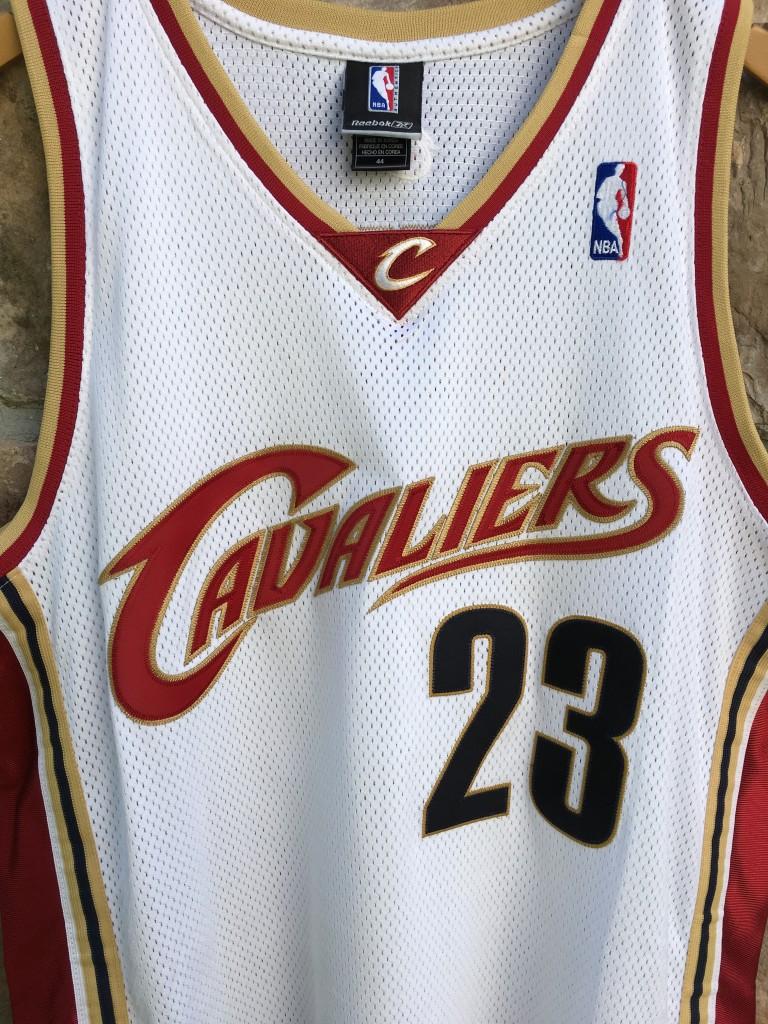 sports shoes c460e 23466 2003 Lebron James Cleveland Cavaliers Authentic Reebok NBA Jersey Size 44