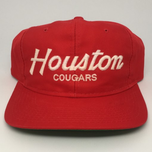 vintage 90's Houston Cougars Sports Specialties NCAA Script snapback hat